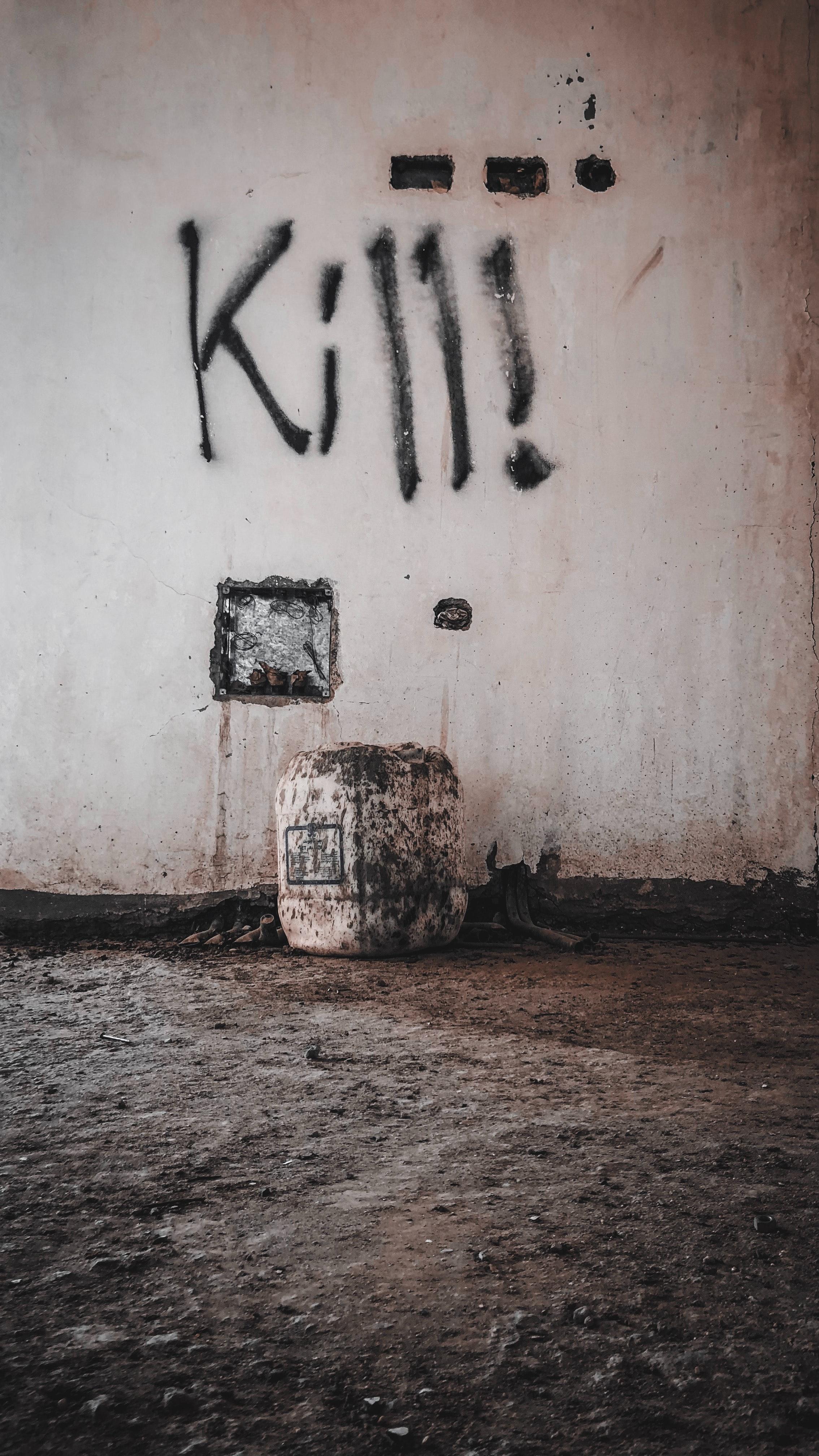 """Grafite com """"Kill!"""""""