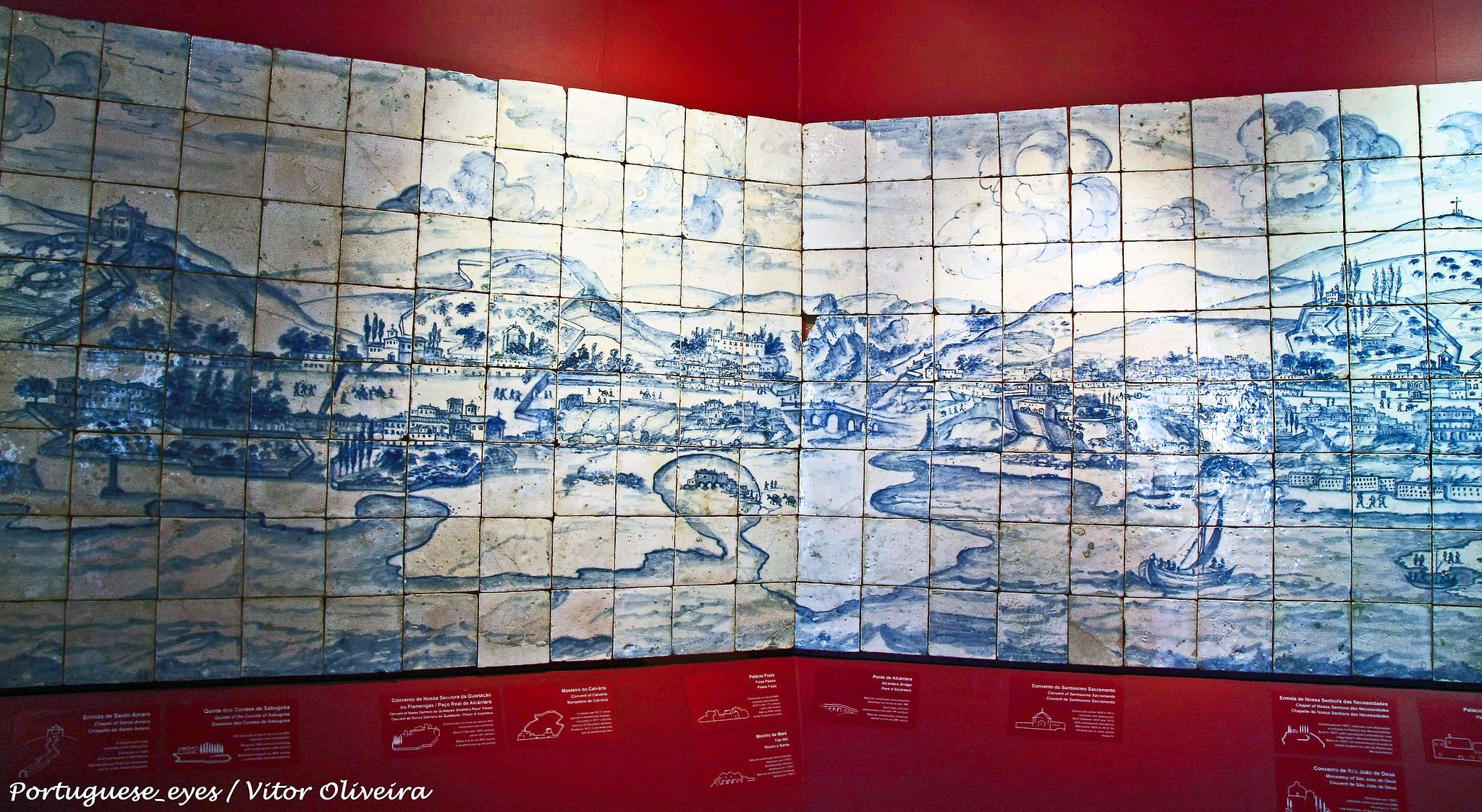 Museu do azulejo, painel Lisboa