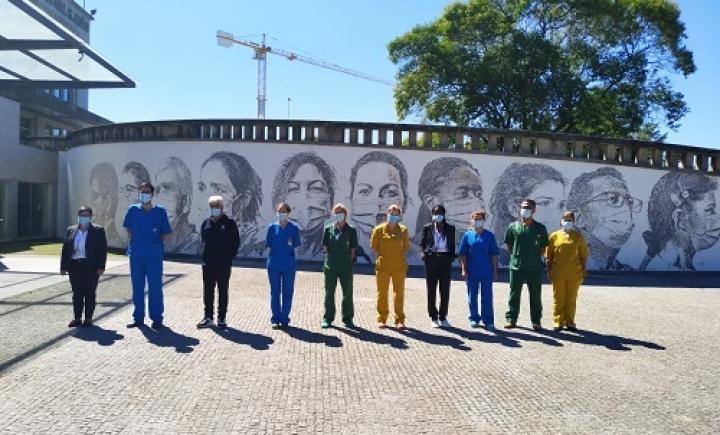 Mural de Vhils no Hospital de São João