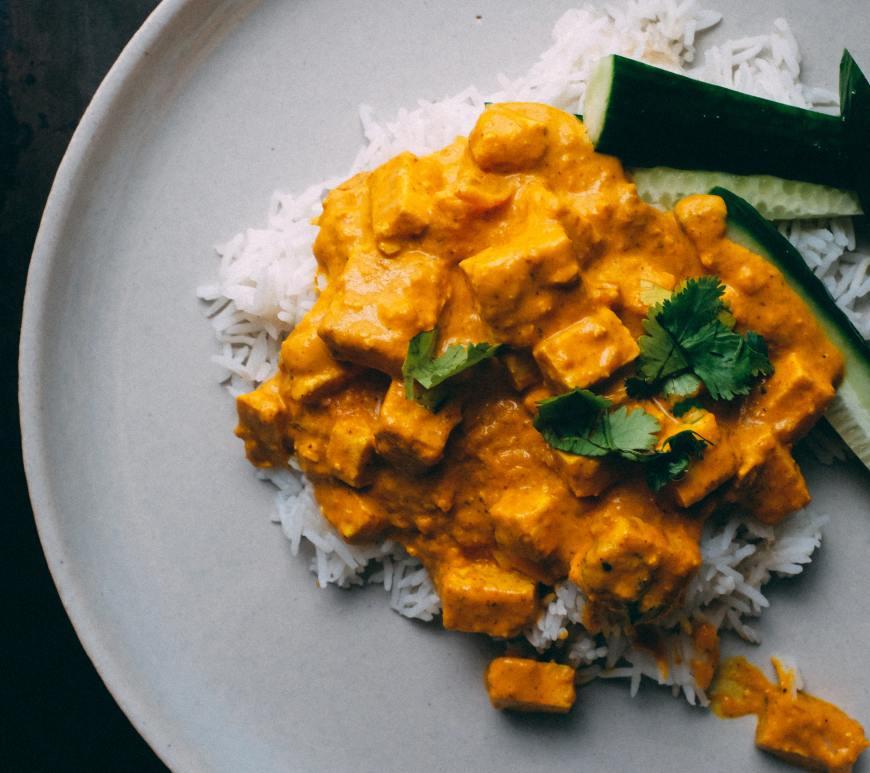 caril de tofu