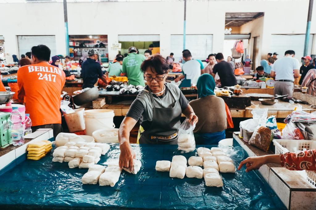 Venda de tofu no Japão