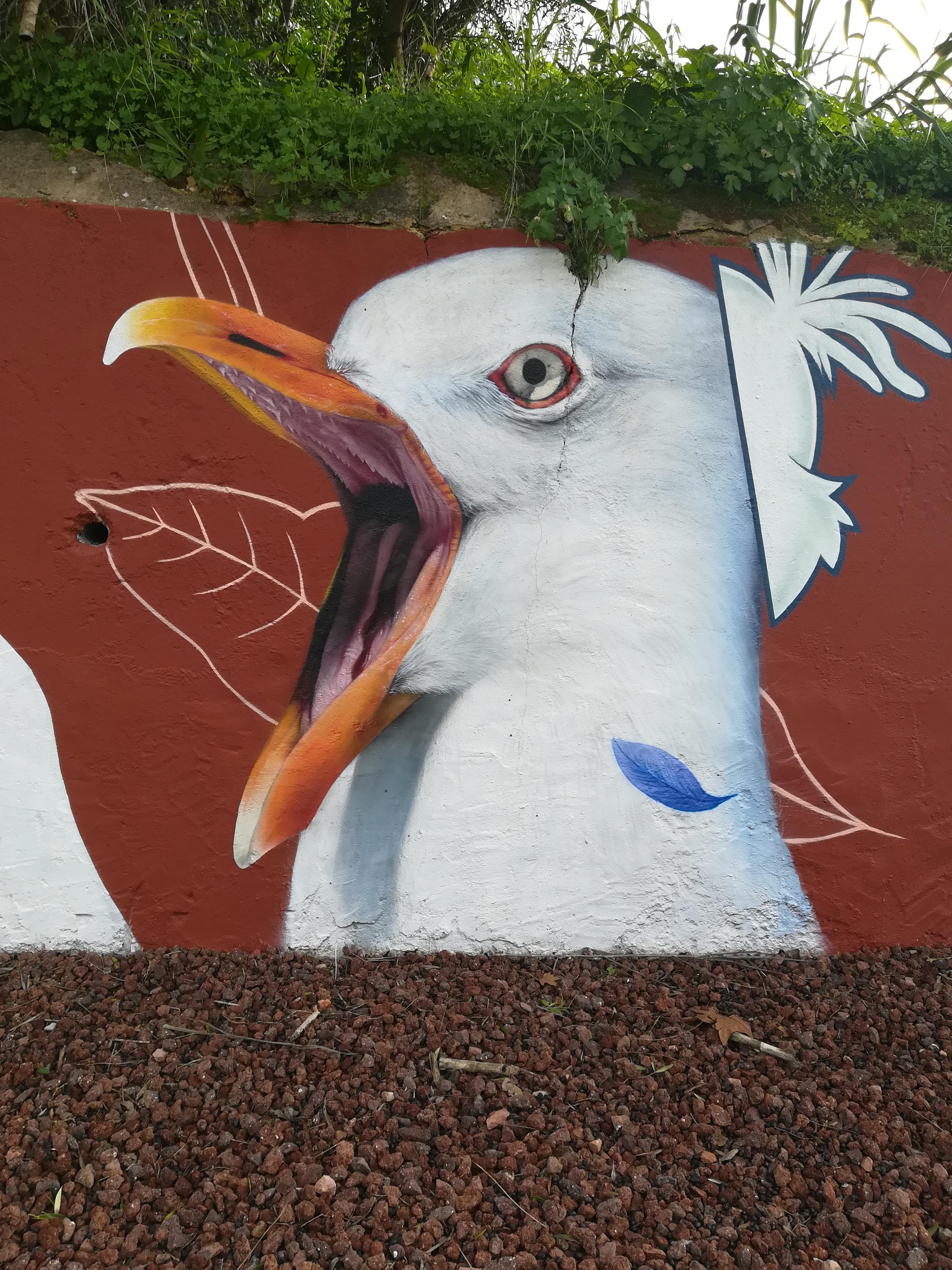 """Mural de Ivo Santos, """"Smile"""""""