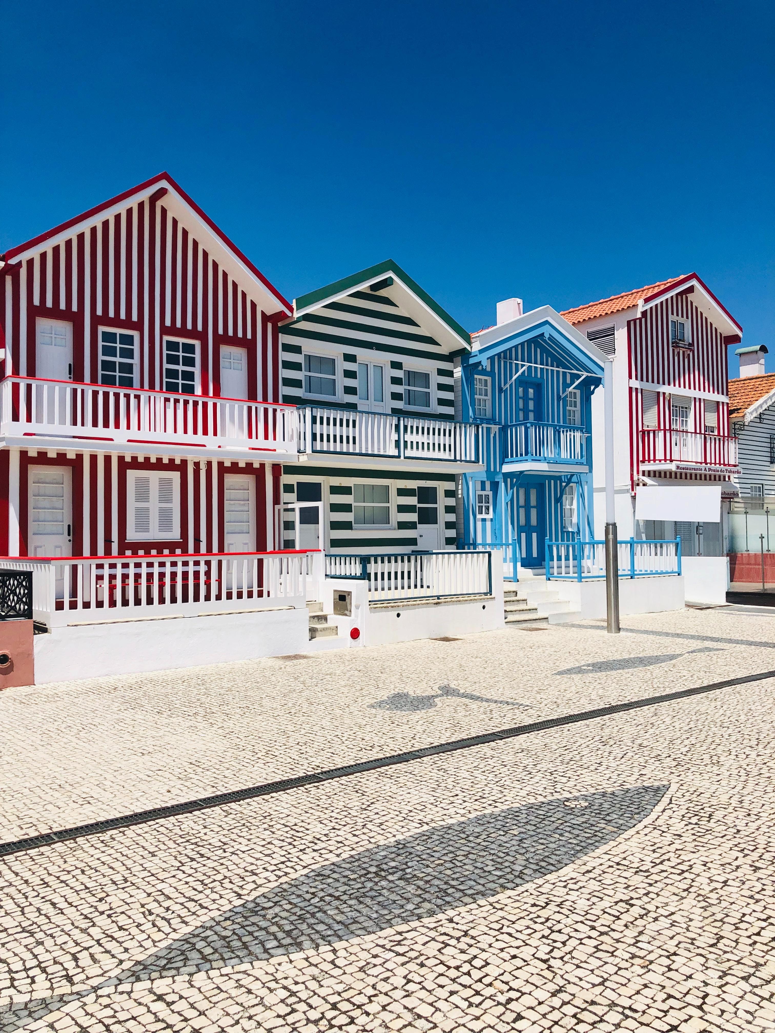 Casas típicas de Aveiro, Costa Nova, Portugal
