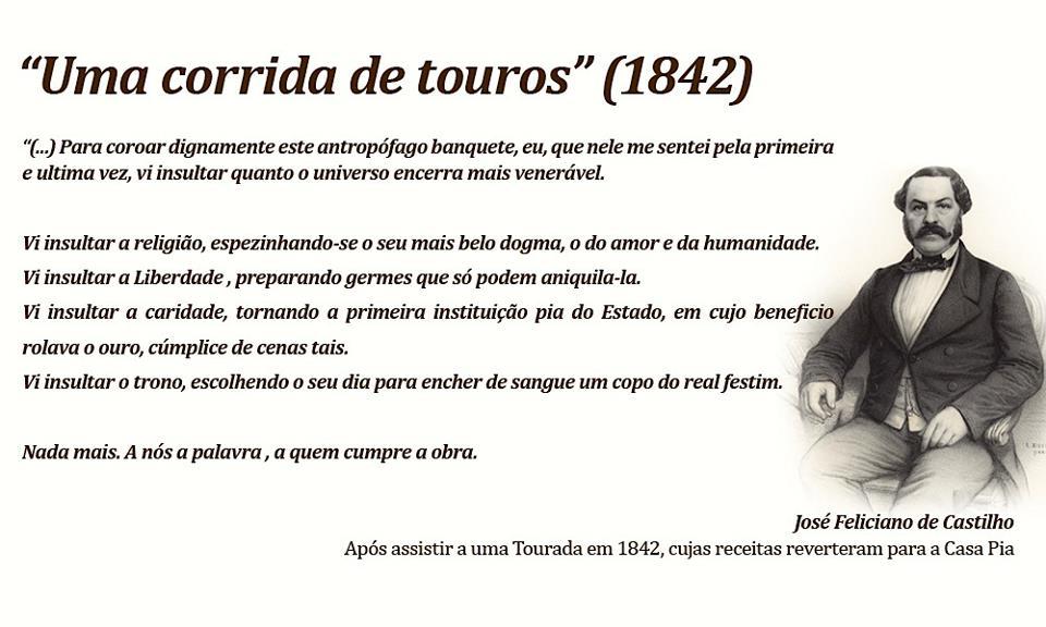 Artigo de 1842 sobre touradas