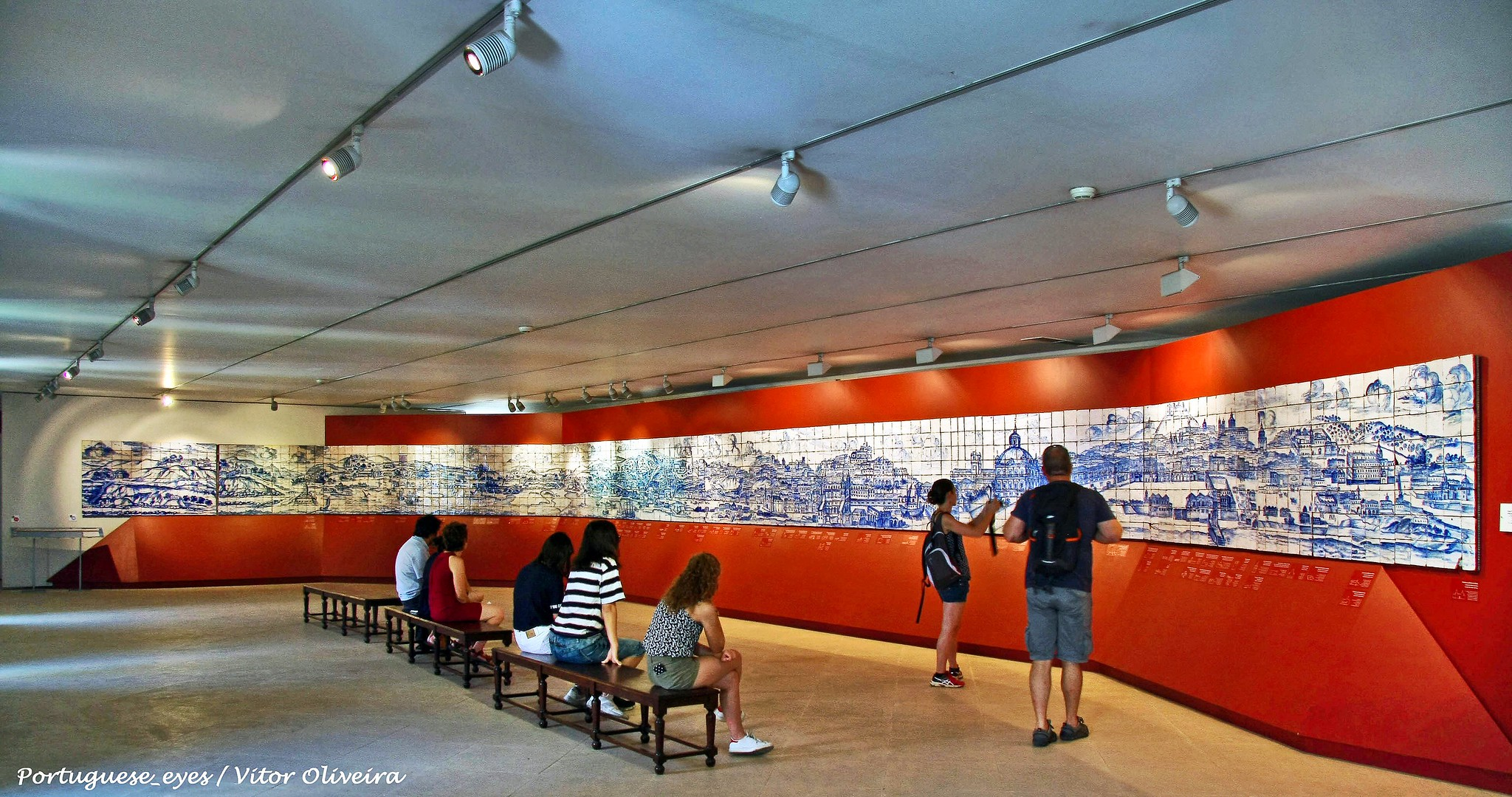 Painel Lisboa em azulejos