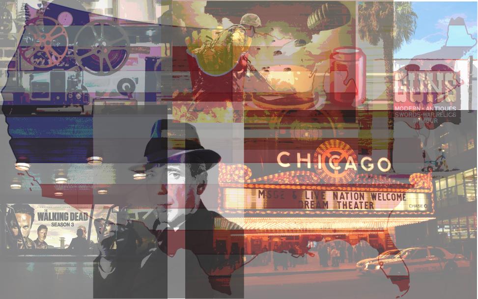 Composição de imagens de filmes americanos