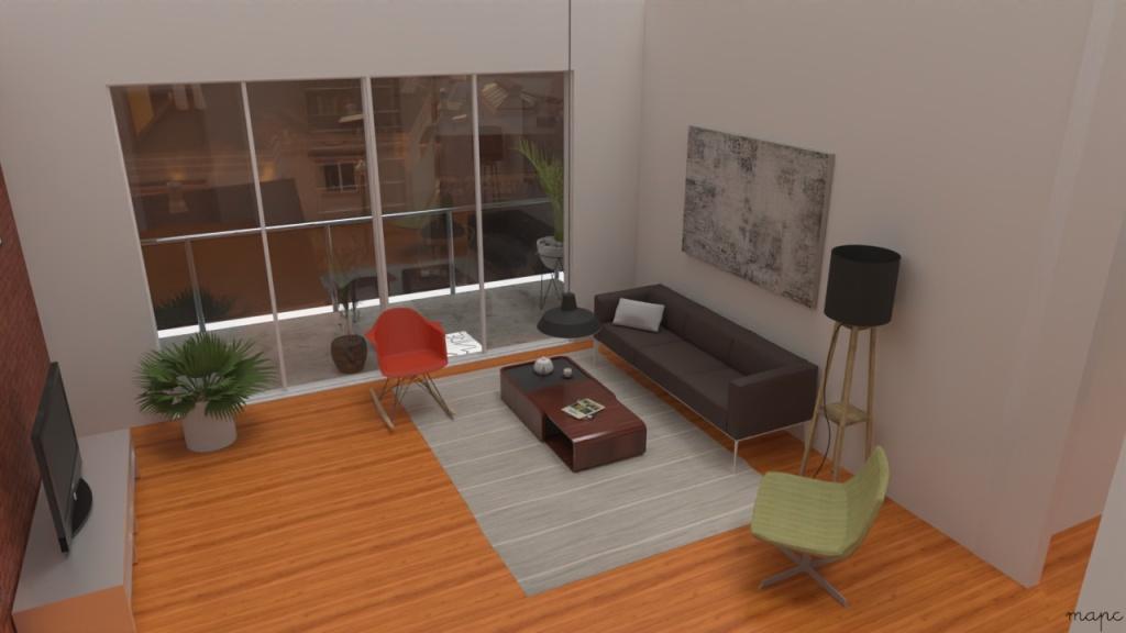 Imagem da sala renderizada