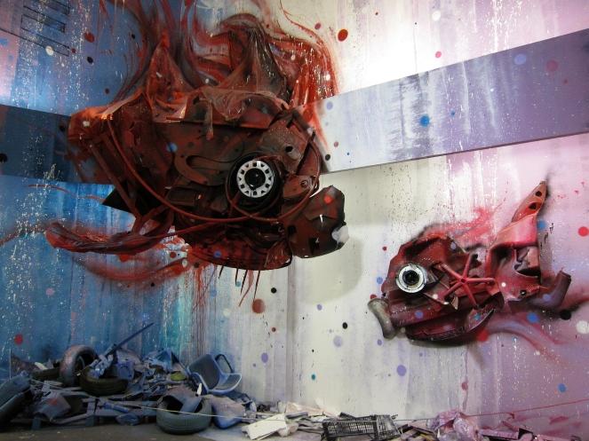 Dirty Aquarium (2013) por Bordalo II