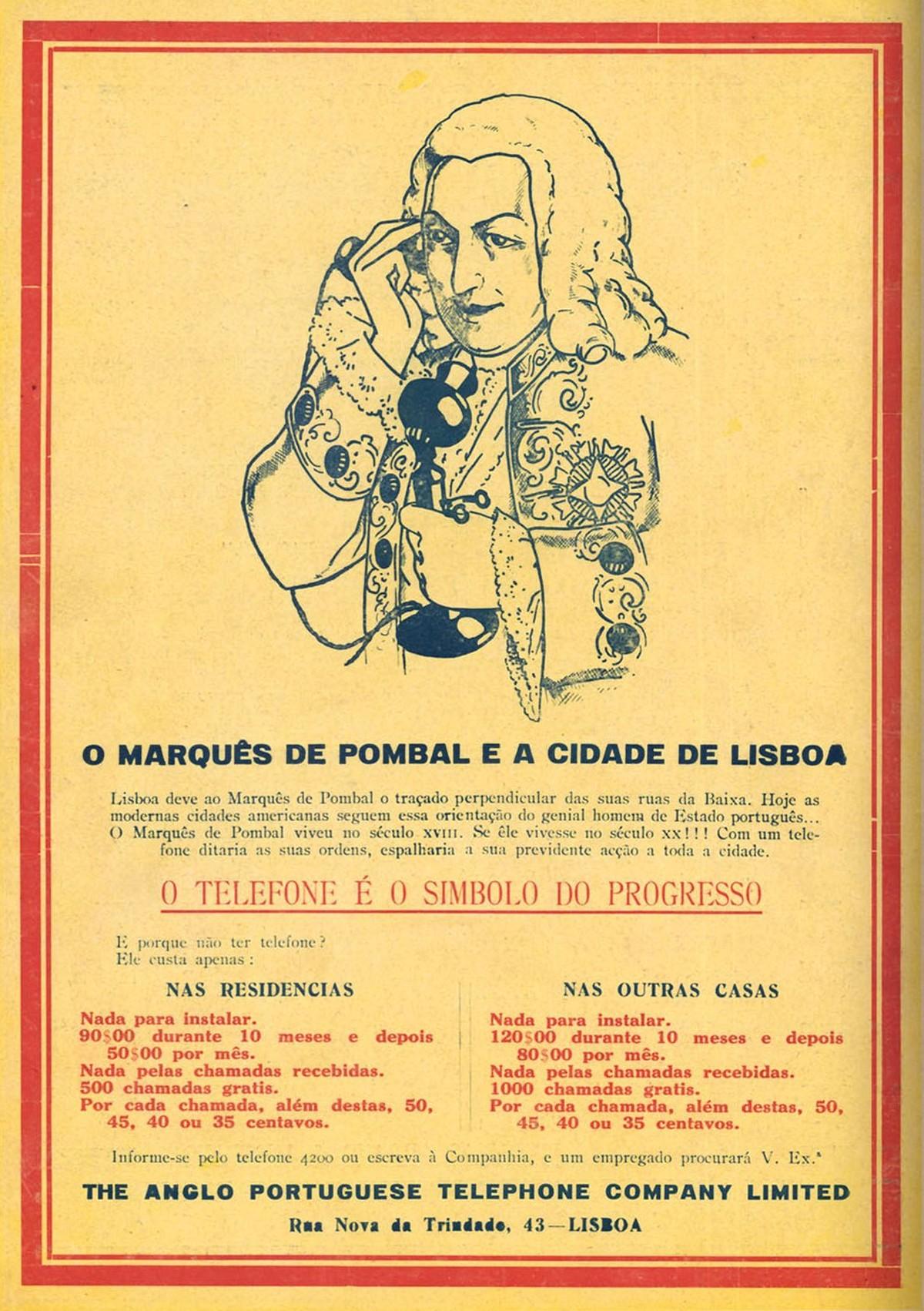 """Companhia de telefones """"The Anglo Portuguese Telephone"""", em Lisboa., 1929"""