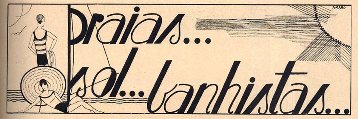 Praias, Ilustração de 1929, Portugal
