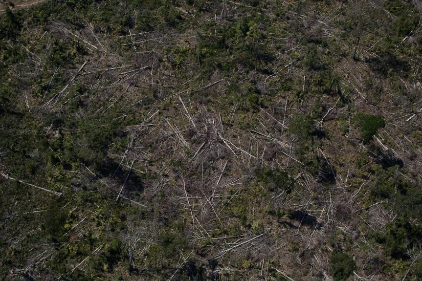 Imagem aerea de desmatamento proximo a Floresta Nacional do Jacunda,em Rondonia. 07 de agosto de 2020. Foto Bruno Kelly/Amazonia Real.