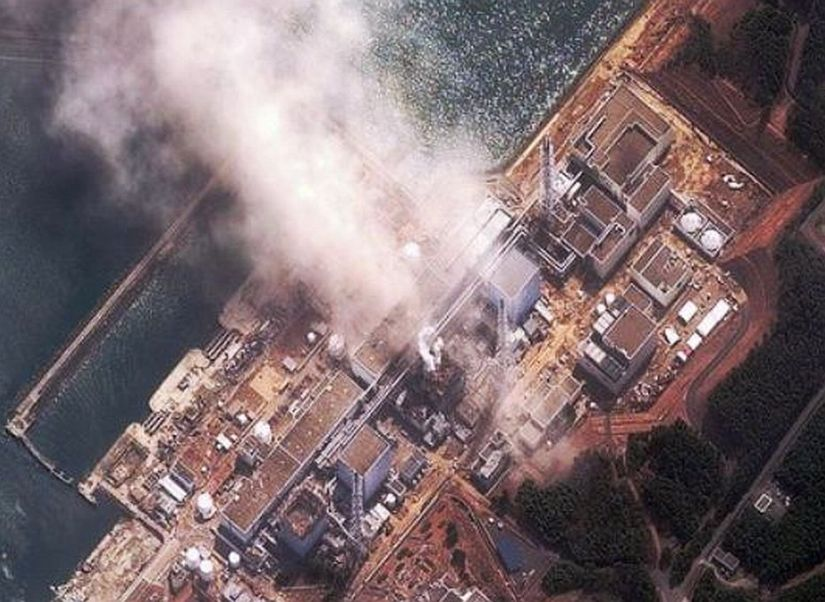 fukushima explosions from air, taken by global Hawk drone.