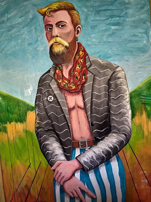 Pintura de António Variações por Joseolgon