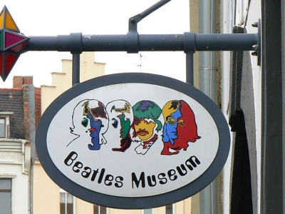 Beatles Museum in Halle (Saale) signboard