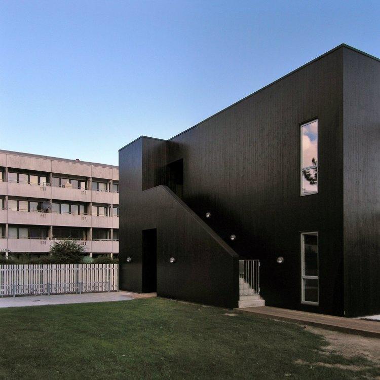 Casa bloco de betão preto