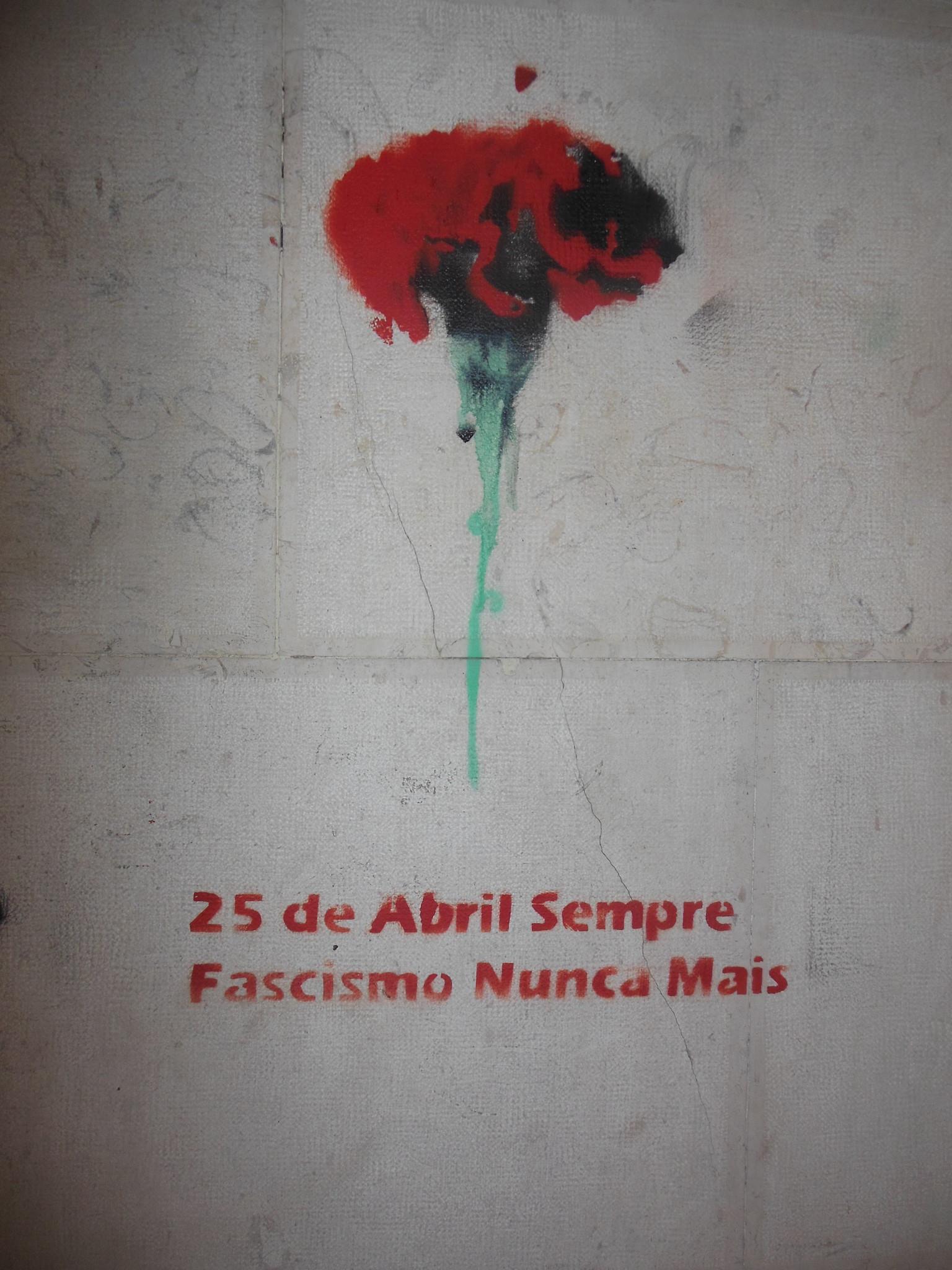 Cravo vermelho 25 de Abril, Portugal
