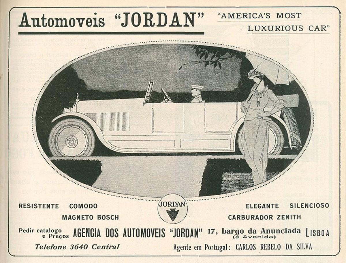 Publicidade ao Automóvel Jordan, 1920
