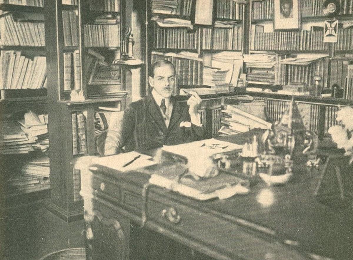 Retrato do poeta português Afonso Lopes Vieira, 1921
