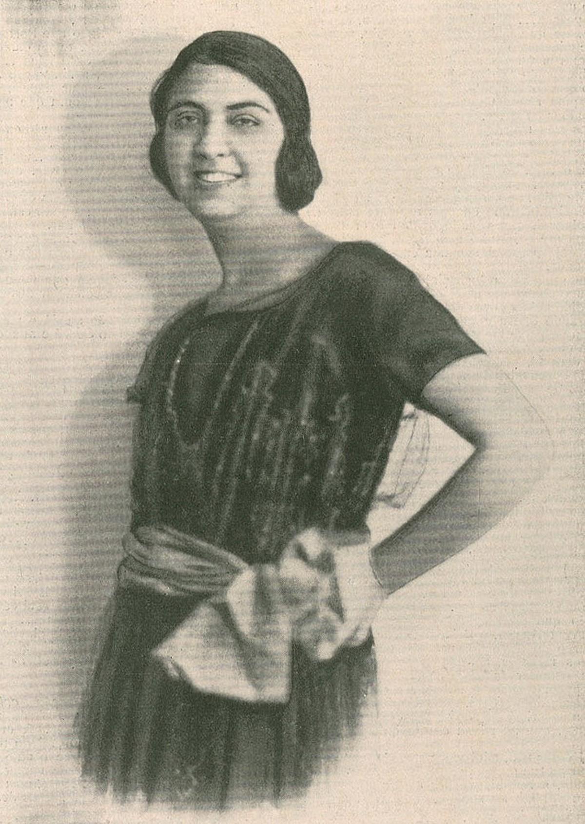 Retrato da escritora portuguesa Fernanda de Castro nos anos 20.
