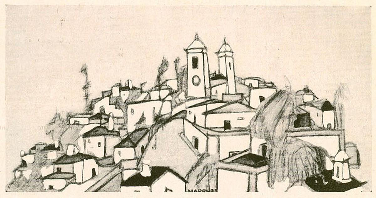Ilustração de Bernardo Marques, 1921