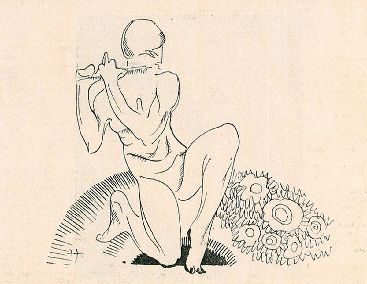 Ilustração por Albert Jourdain, 1921