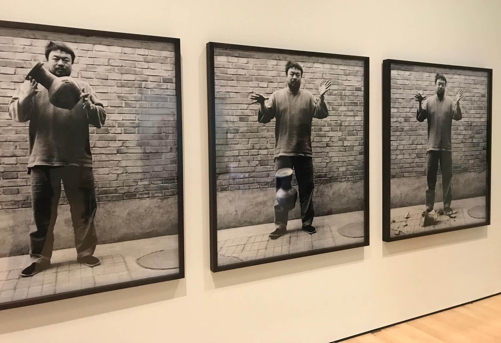 Ai Weiwei Dropping a Han Dynasty Urn, 1995. Gelatine silver prints.
