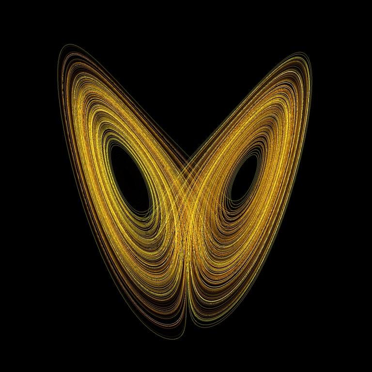 O efeito Borboleta, computed in Fractint by Wikimol, Wikipédia