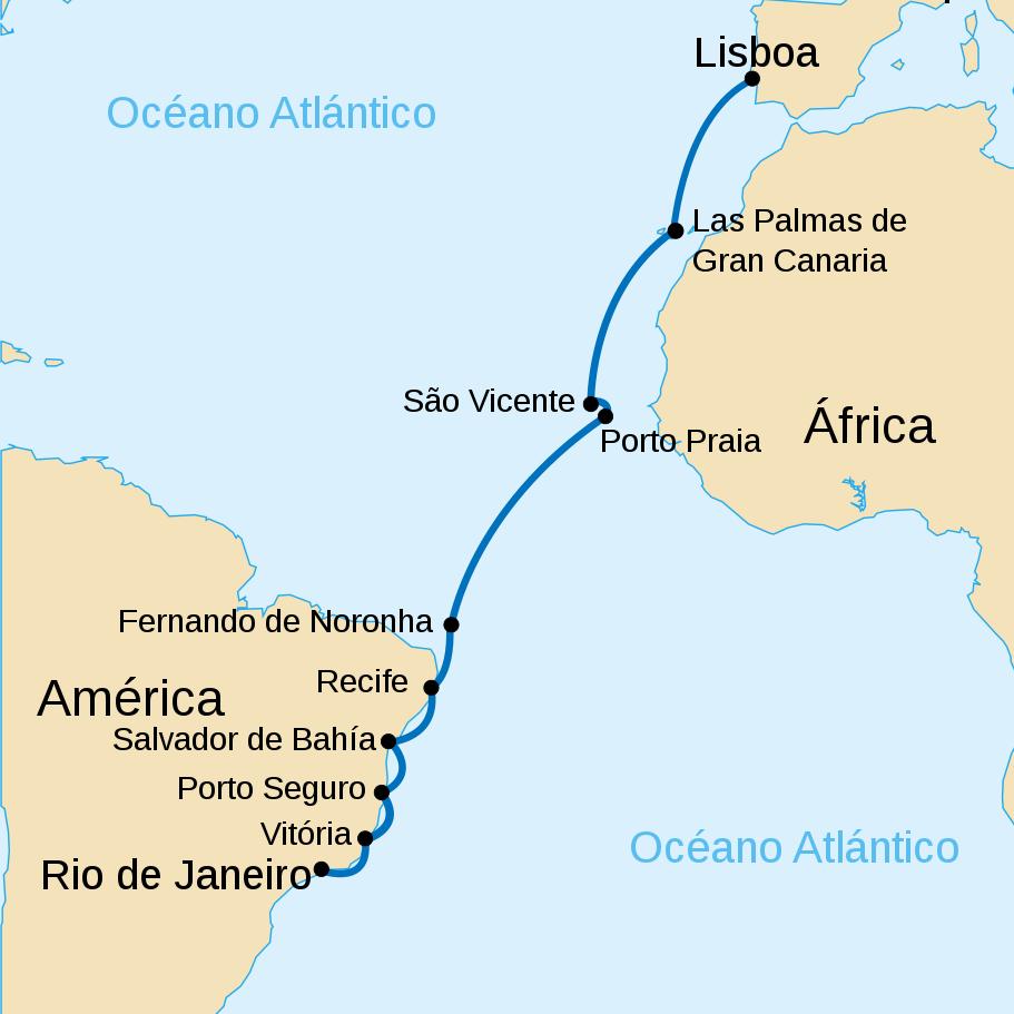 Primeira travessia aérea do Atlântico Sul concluída pelo Gago Coutinho e Sacadura Cabral em 1922.