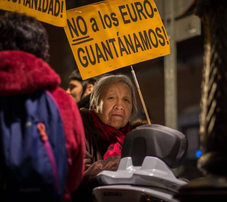 Manifestação em Madrid pelos direitos das pessoas migrantes