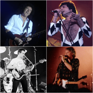 The four members of Queen.