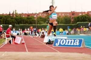 Patrícia Mamona (POR). Triple salto. IAAF World Challenge. Meeting Madrid 2017. Moratalaz, Madrid. Foto de Barcex, Wiki